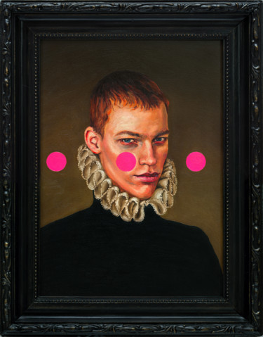"O. Balbyshev ""YOUNG MAN WITH THREE PINK CIRCLES"""