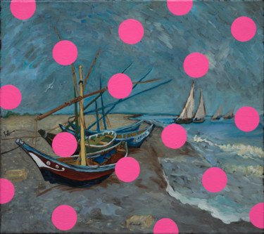 "O.Balbyshev ""FISHING BOATS WITH PINK CIRCLES"""