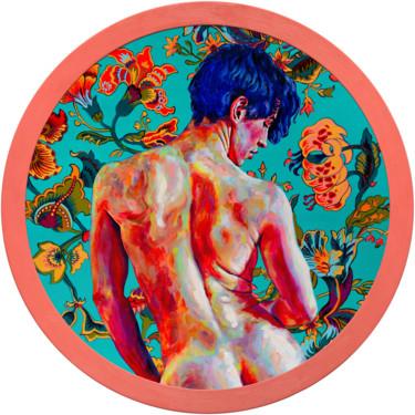 """O. Balbyshev """"Blue-haired Boy on Turquoise Background"""""""