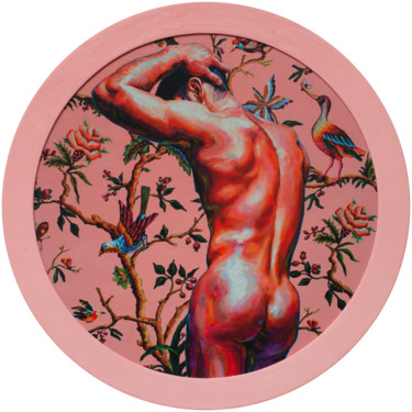 Balbyshev 'Nude on the Pink Background' EDITIONED PRINT 1/20