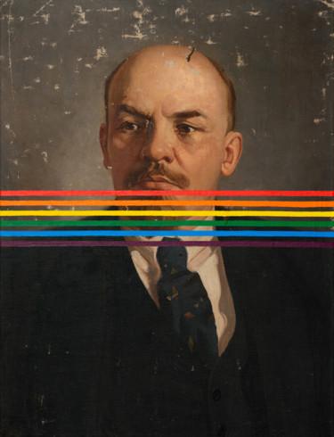 """Oleksandr Balbyshev """"Rainbow Lenin"""""""